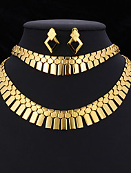 New Women's Statement Necklace Jewelry Set 18K Gold Platinum Plated Jewelry Gift for Women High Quality