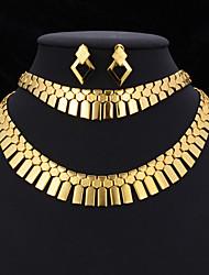 collar de la joyería de las nuevas mujeres declaración establece 18k platino chapado en oro regalo de la joyería para las mujeres de alta calidad