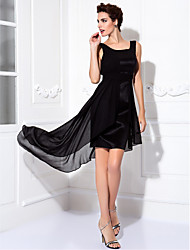 TS Couture® Cocktail Party / Prom Dress Plus Size / Petite Sheath / Column Scoop Knee-length Chiffon / Stretch Satin with Draping