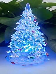 LED Color Change Transparent Tree Shaped Mini Light Christmas Props