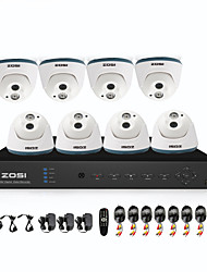 ZOSI® 8 Channel H.264 HDMI DVR 8 pcs 800TVL Night Vision Indoor CCTV Camera Security System