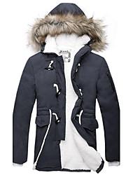 Men's Winter New padded Waist-Drawstring Velvet Casual Slim Long Coat/Jacket