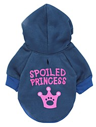 Big Crown Pattern Fleeces Hoodies T-Shirt for Dogs(Assorted Sizes)