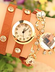 Мак женская элегантная все имитация матч бриллиантовый браслет часы
