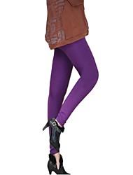 Women's Fleece Candy Color Basic Leggings(More Colors)