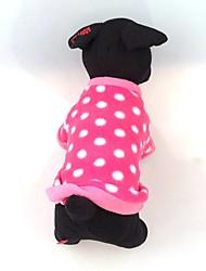 honden Jassen Rood Hondenkleding Winter Polka dots / Harten Casual/Dagelijks