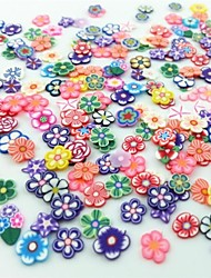 300PCS Mixed Style Fimo Slice Flower Series Nail Art Decoration