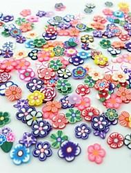300pcs gemischten Stil Fimo Scheibe Blume-Serie Nagelkunstdekoration