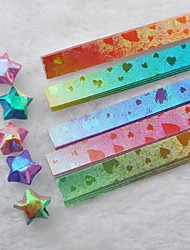 materiales de origami estrellas afortunadas brillantes gradiente (80 páginas / paquete de color al azar)