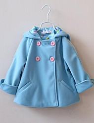 Girl's Cashmere/Cotton Jacket & Coat , Winter/Spring/Fall Long Sleeve