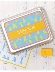 Tin Box Little Kids DIY Plastic Foam Seal Stamp Set