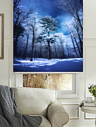 The Silent Night Woods Roller Shade