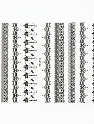 Lovely Nail Art Stickers Decals Wedding Lace Series Nail Accessory for Acrylic Nail Tips DIY Nail Art DecorationsNO.32