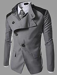 Men's Long Sleeve Jacket , Tweed Work/Formal Pure