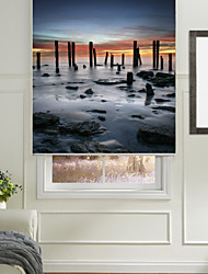 Realistic Classic Sunrise Flood Scene Roller Shade
