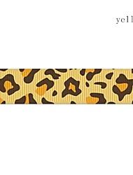 Impression de ruban motif de grain de léopard hagard thoracique 3/8 de pouce ribbon- 25 mètres par rouleau (plus de couleurs)