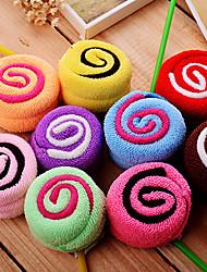 Christmas Gift Lollipop Shape Towel (100% Cotton,20*20cm*2pcs,Random Color)