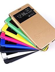 PU-Leder Etui mit intelligenten Antwort und Sichtfenster für Samsung Galaxy Note 4