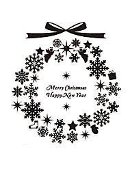 """Frohe Weihnachten dekorative Glocken läuten Fensteraufkleber (11,76 """"w × 12.96"""" l)"""