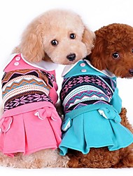 Dog / Cat Dress Green / Pink / Orange Winter Bowknot Wedding