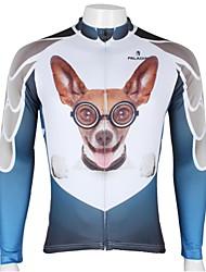 ILPALADINO Maillot de Cyclisme Homme Manches longues Vélo Maillot Hauts/Tops Séchage rapide Résistant aux ultraviolets Respirable100 %