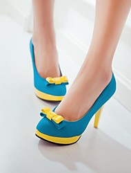 Women's Shoes Round Toe Stiletto Heel Pumps Shoes with Bowknot More Colors available