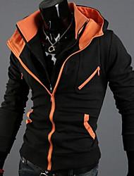 con capucha de color de los hombres manlodi bloqueo Silueta entallada chaqueta