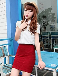 Women's Blue/Red/Black Skirts , Work Mini