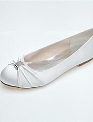 Women's Wedding Shoes Round Toe Flats Wedding/Casual/Party & Evening Black/Blue/Pink/Purple/Ivory/Silver