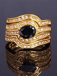 3 capas de lujo de las mujeres topgold band18k chapado en oro de Austria cristal diamante de imitación de piedra