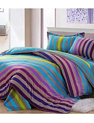 Set of 4   Stripe  Bamboo Fiber  Duvet  Covers