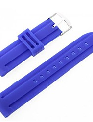 Unisex Silicone Watch Band Strap 24MM (Blue)