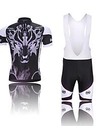 oeste biking® fantasma lobo bib traje de ropa deportiva de manga corta bicicleta de montaña ropa bicicleta ciclismo conjunto para los hombres