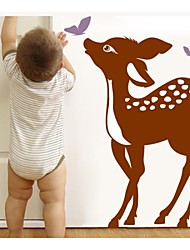 JiuBai® Cartoon Deer And Butterfly Wall Sticker Wall Decal