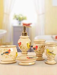 baño de juego de accesorios haoxinyi®, moderno polyresin jardín de estilo Conjunto 5 piezas