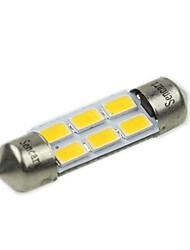 36 milímetros (sv8.5-8) 3w 6x5730smd 180-220lm 3000-3500K luz branca quente levou lâmpada para lâmpada de leitura de carro (ac12-16v)