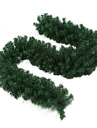 2.7m Green Colored Christmas Decorating Plastic Rattan
