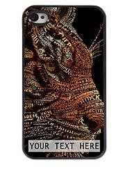 personalizzato del telefono caso - tigre caso di disegno del metallo per il iphone 4 / 4s