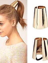 z&X® estilo contratado europeu laço de cabelo cônico (2 opções de cores: dourado, prata)