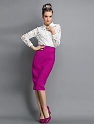 Women's Cut Out Fashion Suit(Blouse & Skirt)
