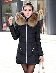 winter bontkraag hoodie donsjack d006black