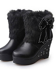 Women's shoes Rhinestone Wedge Heel Ankle Boots