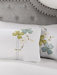 Beautiful Cotton Fabric  Decorative Pillow Case Set Of 2 With Size 19x29inch(48x73cm)