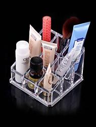 trasparente comò cristallo scatola di immagazzinaggio cosmetici