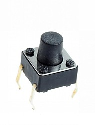 4-pin Tact Switch Tactile Push Button Switch DIY 6x6x7mm (100 pcs)