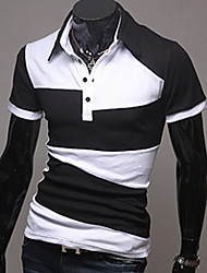 couleur vive bande gras manches courtes chemise hommes shyess
