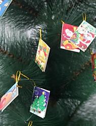 belle mini-carte de souhaits décoration de Noël décoration d'arbre de noël (aléatoire) (20pcs)