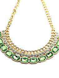 kl Frauen bunte rhinstone Halskette