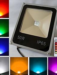 50 W 1 High Power LED 4500 LM RGB Remote-Controlled Flood Lights AC 85-265 V