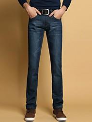 doitnow delgado jeans rectos de otoño e invierno de los hombres ocasionales de ajuste 8120